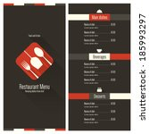 restaurant menu. flat design | Shutterstock .eps vector #185993297