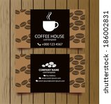 business card coffee template... | Shutterstock .eps vector #186002831