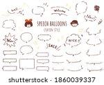 it is a set of speech balloons... | Shutterstock .eps vector #1860039337