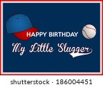 birthday greeting card for a... | Shutterstock .eps vector #186004451