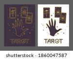 logo for a tarot reader  print...   Shutterstock .eps vector #1860047587
