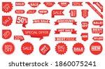 sale label collection set. set... | Shutterstock .eps vector #1860075241