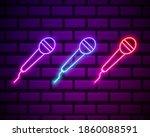 karaoke colours glowing neon ui ...