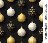 realistic christmas seamless...   Shutterstock .eps vector #1860102637