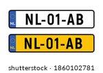 netherlands dutch license plate.... | Shutterstock .eps vector #1860102781