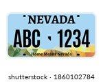 american nevada car license... | Shutterstock .eps vector #1860102784