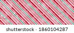Peppermint Candy Cane Diagonal...