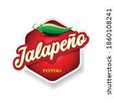 jalapeno chilli pepper sign... | Shutterstock .eps vector #1860108241