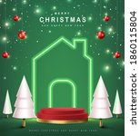merry christmas banner with... | Shutterstock .eps vector #1860115804