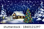 Vector Christmas Background...