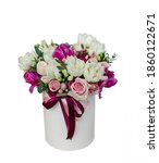 Natural Flowers In Box Isolated ...