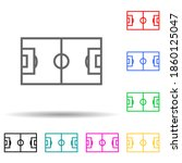 football field multi color...