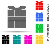 gift box multi color style icon....
