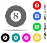 billiard ball multi color style ...