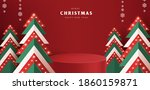 merry christmas banner with... | Shutterstock .eps vector #1860159871