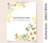 invitation greeting card with... | Shutterstock .eps vector #1860178534