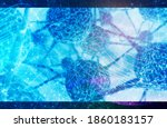 neuron cells network.... | Shutterstock . vector #1860183157