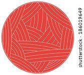 vector illustration of wool... | Shutterstock .eps vector #186019649