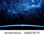 earth and galaxy. elements of... | Shutterstock . vector #186019679