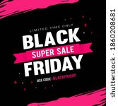 black friday super sale vector... | Shutterstock .eps vector #1860208681