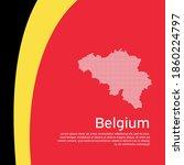 Abstract Waving Belgium Flag...