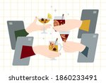 online party  virtual meeting...   Shutterstock .eps vector #1860233491