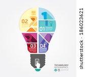 modern design minimal style... | Shutterstock .eps vector #186023621