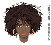 portrait of beauty african... | Shutterstock .eps vector #186023867