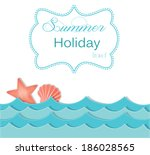 beach and ocean layout with... | Shutterstock . vector #186028565