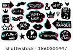 Black Blue Pink Sticker Pack...