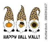 phrase happy fall you all.... | Shutterstock .eps vector #1860341617