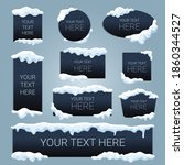 snow ice cap your text here... | Shutterstock .eps vector #1860344527