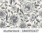 vintage seamless pattern.... | Shutterstock .eps vector #1860352627
