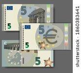 set of new paper money in the... | Shutterstock .eps vector #1860383641