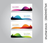 vector abstract banner web... | Shutterstock .eps vector #1860440764
