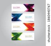 vector abstract banner web... | Shutterstock .eps vector #1860440767