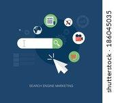 vector modern search engine... | Shutterstock .eps vector #186045035