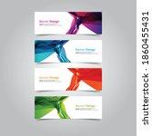 vector abstract banner web... | Shutterstock .eps vector #1860455431