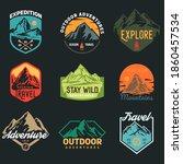set templates of outdoor travel ... | Shutterstock .eps vector #1860457534