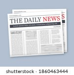 vector mock up of a blank daily ... | Shutterstock .eps vector #1860463444