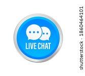 live chat speech bubbles...   Shutterstock .eps vector #1860464101