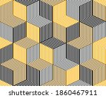 3d dimensional lined cubes...   Shutterstock .eps vector #1860467911