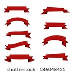 collection of vector ribbons.... | Shutterstock .eps vector #186048425