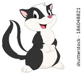 cartoon skunk. isolated object... | Shutterstock .eps vector #186048821