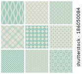 set of 9 seamlessly tiling... | Shutterstock .eps vector #186050084