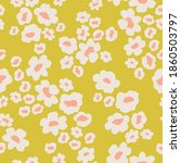 scattered daisy floral pattern...   Shutterstock .eps vector #1860503797