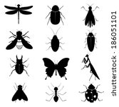 Insects Silhouettes Collection