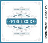 retro typographic design... | Shutterstock .eps vector #186054197
