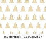 golden christmas trees on a... | Shutterstock .eps vector #1860552697