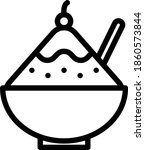 shaved ice vector icon in...